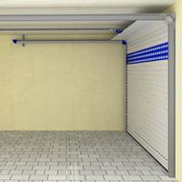 Deckenlauftor in einer Garage